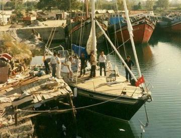 Steel and aluminum Sailing Yacht construction Petsan 1