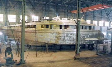 Steel and aluminum Motor Yacht construction Dervis III